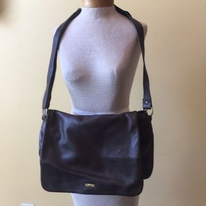 Etienne Aigner brown leather crossbody bag